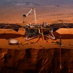 Die Raumsonde InSight in einer Illustration.